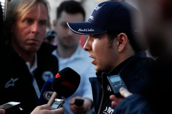 Sergio Perez, SportPesa Racing Point F1 Team talks with the media