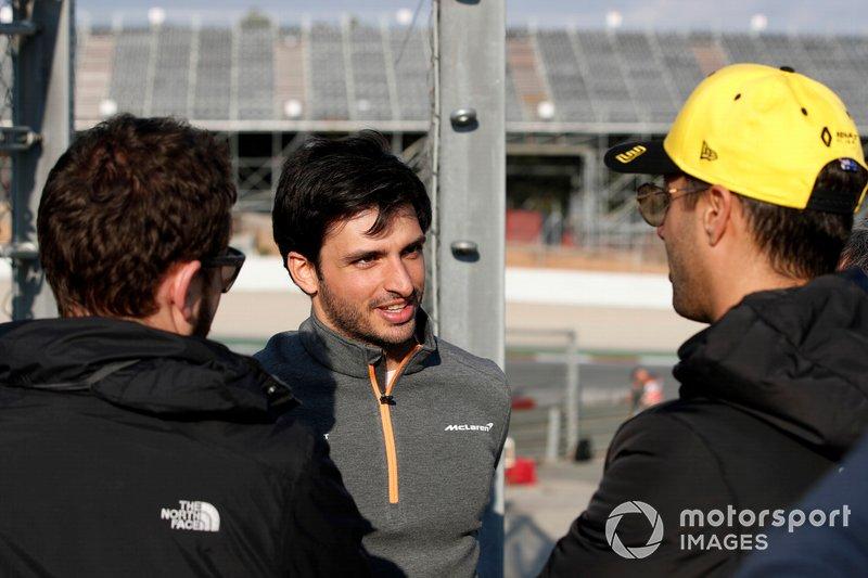 Carlos Sainz Jr., McLaren y Daniel Ricciardo, Renault F1 Team