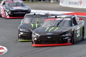 Riley Herbst, Stewart-Haas Racing, Ford Mustang Monster Energy and Ty Gibbs, Joe Gibbs Racing, Toyota Supra Monster Energy