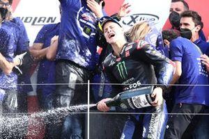 World Champion Fabio Quartararo, Yamaha Factory Racing celebrates with his team