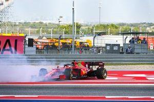 Шарль Леклер, Ferrari SF21, разворот