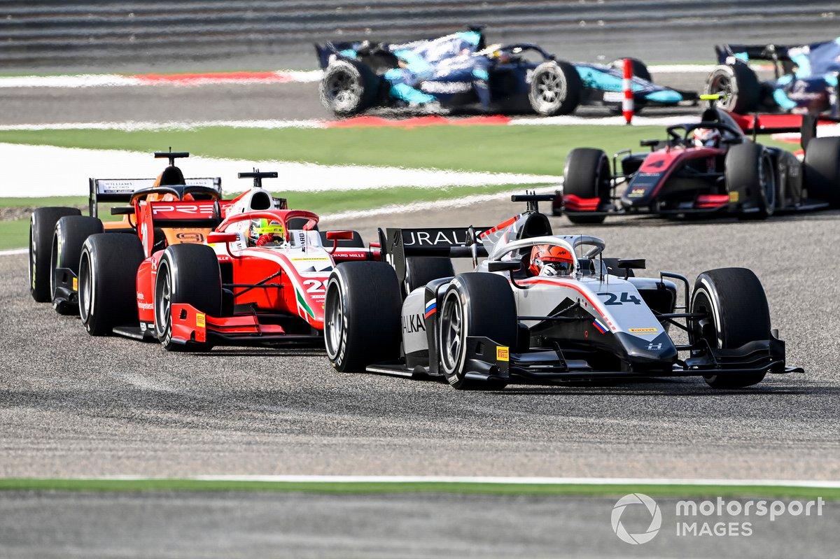 Nikita Mazepin, Hitech Grand Prix y Mick Schumacher, Prema Racing