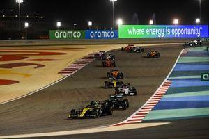 Daniel Ricciardo, Renault F1 Team R.S.20, Valtteri Bottas, Mercedes F1 W11, Pierre Gasly, AlphaTauri AT01, Esteban Ocon, Renault F1 Team R.S.20, en Lando Norris, McLaren MCL35