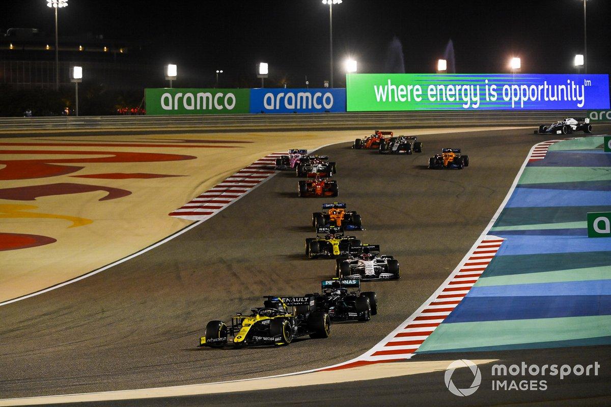 Daniel Ricciardo, Renault F1 Team R.S.20, Valtteri Bottas, Mercedes F1 W11, Pierre Gasly, AlphaTauri AT01, Esteban Ocon, Renault F1 Team R.S.20, Lando Norris, McLaren MCL35