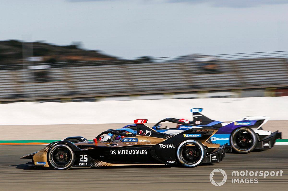 Jean-Eric Vergne, DS Techeetah, DS E-Tense FE20, Maximilian Gunther, BMW I Andretti Motorsports, BMW iFE.21