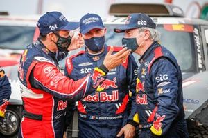 #301 Toyota Gazoo Racing: Nasser Al-Attiyah, #302 X-Raid Mini JCW Team: Stéphane Peterhansel, #300 X-Raid Mini JCW Team: Carlos Sainz