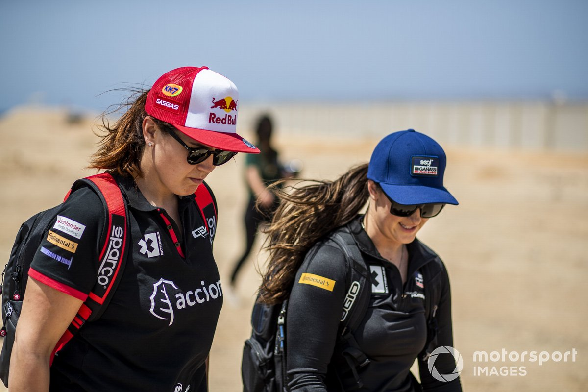 Laia Sanz, Acciona Sainz XE Team, y Sara Price, Segi TV Chip Ganassi Racing