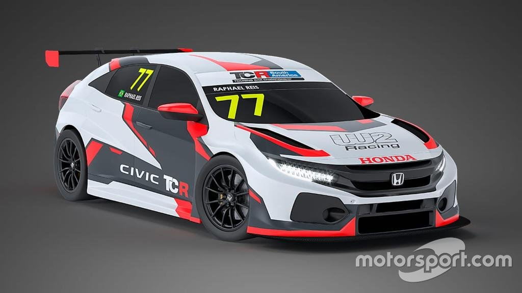Layout do Honda Civic de Raphael Reis preparado pela W2