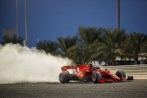 Charles Leclerc, Ferrari SF1000, heads through the gravel