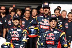 Jaime Alguersuari, Scuderia Toro Rosso con Jean-Eric Vergne, reserva de Scuderia Toro Rosso y Sebastien Buemi, Scuderia Toro Rosso