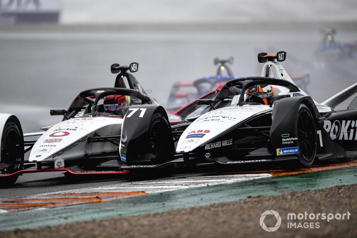 Pascal Wehrlein, Porsche, Porsche 99X Electric, battles with Norman Nato, Venturi Racing, Silver Arrow 02