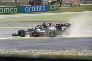 Lewis Hamilton, Mercedes W12 runs wide