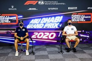 Pierre Gasly, AlphaTauri and Daniil Kvyat, AlphaTauri in the press conference