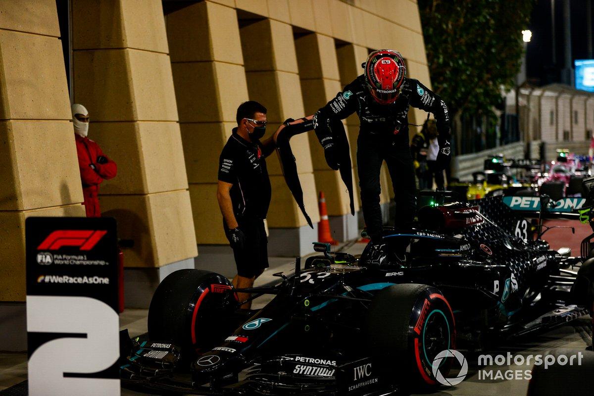 Segundo puesto George Russell, Mercedes-AMG F1