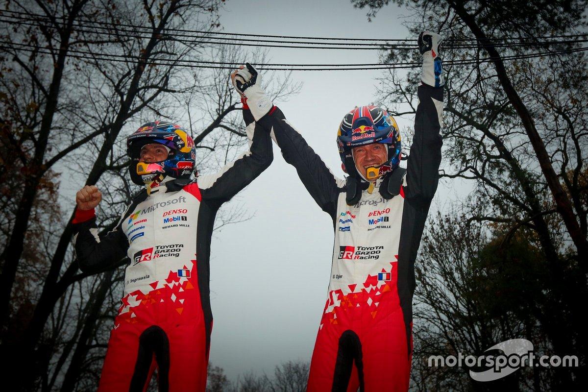 Los ganadores: Sébastien Ogier, Julien Ingrassia, Toyota Gazoo Racing WRT Toyota Yaris WRC