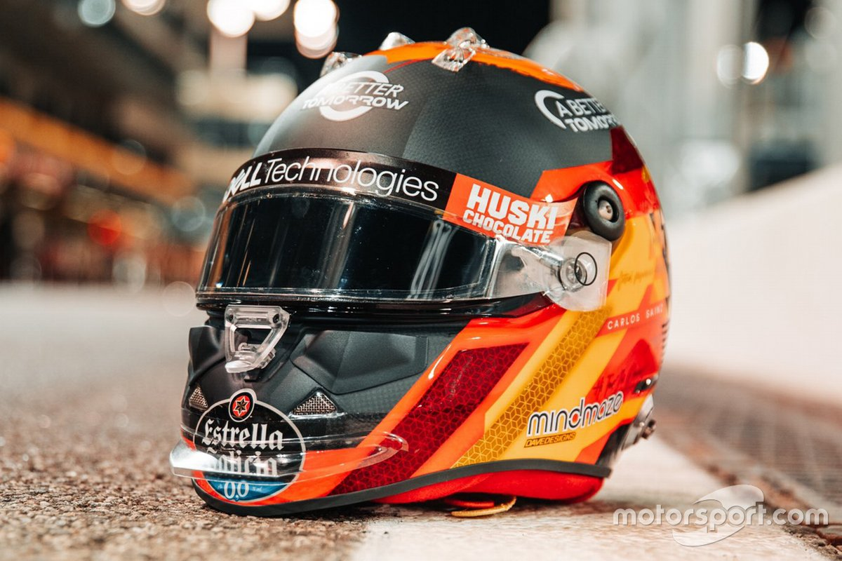 Casco de Carlos Sainz Jr., McLaren