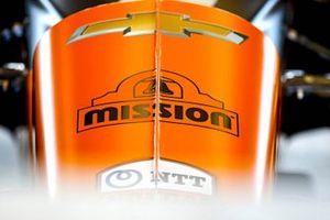 Logo on the car of Juan Pablo Montoya's Arrow McLaren SP-Chevrolet