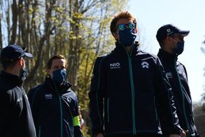 Tom Blomqvist, NIO 333, Oliver Turvey, NIO 333, walk the track
