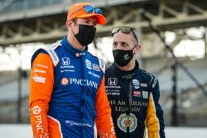 Tony Kanaan, Chip Ganassi Racing Honda and Scott Dixon, Chip Ganassi Racing Honda