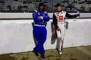 Ty Gibbs, Joe Gibbs Racing, Toyota Supra AutoByNelson.com and Josh Williams, DGM Racing, Chevrolet Camaro DGM Racing