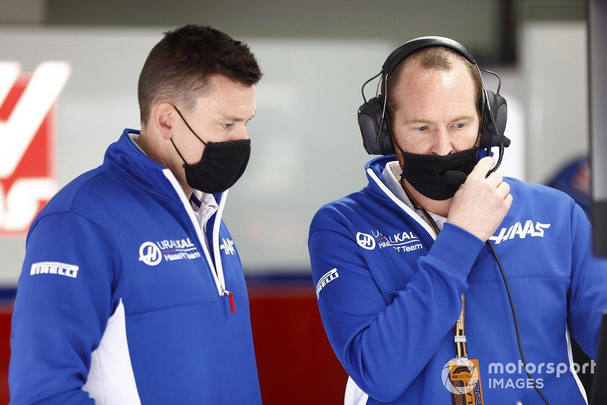 Miembros del equipo de Haas