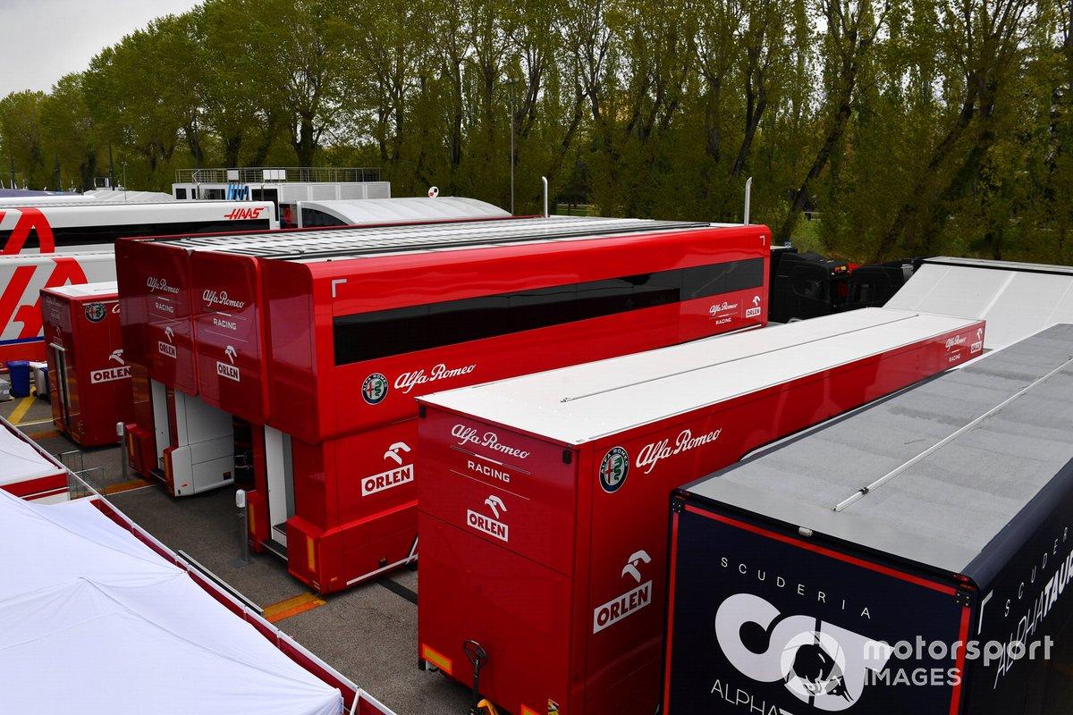 El motorhome de Alfa Romeo Racing