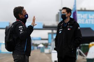 Jamie Reigle, CEO della Formula E, Ian James, Team Principal, Mercedes-Benz EQ
