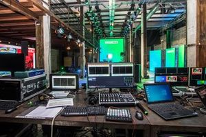 Backstage of the first Electric Days Digital event in the United States.