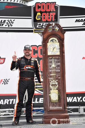 Josh Berry, JR Motorsports, Chevrolet Camaro Chevrolet Accessories, celebrates after winning in Martinsville