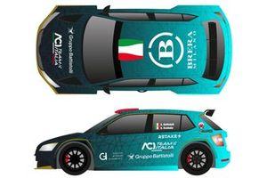 Alberto Battistolli, Simone Scattolin, Skoda Fabia Rally2