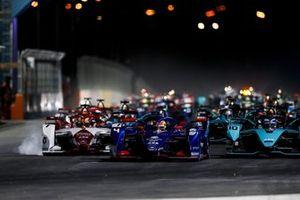 Robin Frijns, Envision Virgin Racing, Audi e-tron FE07 Sam Bird, Jaguar Racing, Jaguar I-Type 5, 7 alla partenza della gara