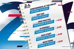 Het programma voor de 24 uur van Le Mans