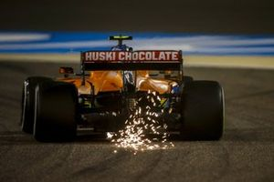 Sparks kick up from Lando Norris, McLaren MCL35