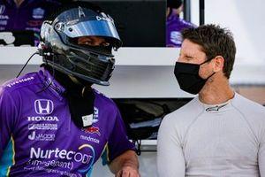 Romain Grosjean, Dale Coyne Racing with Rick Ware Racing Honda and crew member
