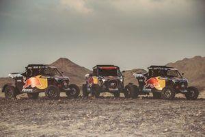 Cars of RedBull off-road team USA