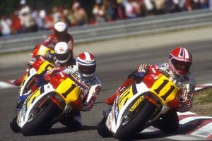 Raymond Roche, Honda Total, Freddie Spencer, Honda Racing Corporation, Ron Haslam, Honda Racing Corporation, Eddie Lawson, Marlboro Team Agostini