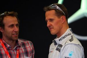 Luca Badoer and Michael Schumacher, Mercedes AMG F1