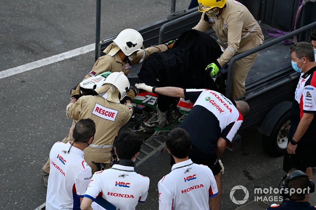 Moto chocada de Alex Márquez, Team LCR Honda