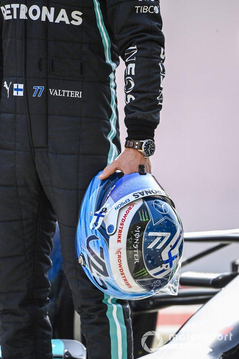 El casco de Valtteri Bottas, Mercedes