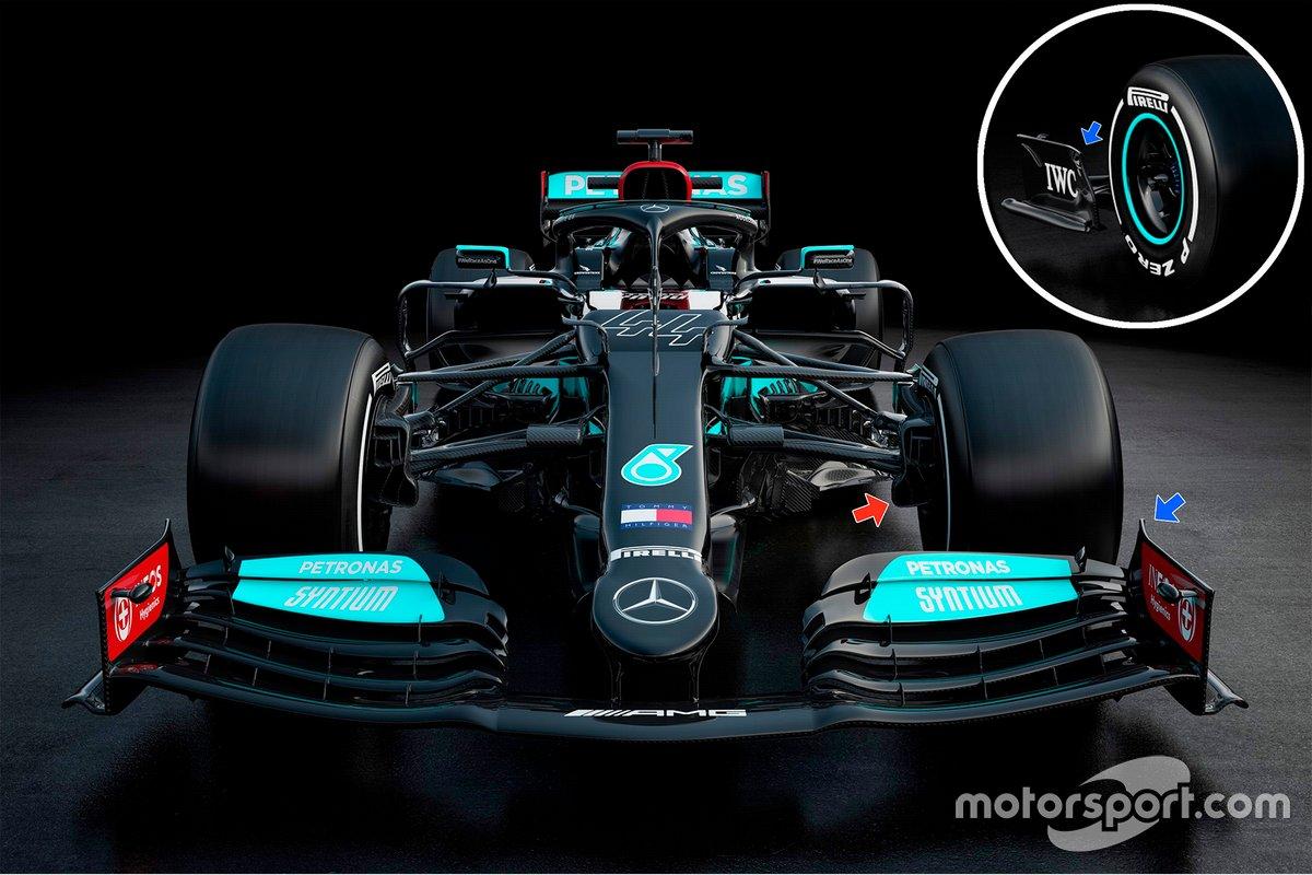 Mercedes AMG F1 W12 front details
