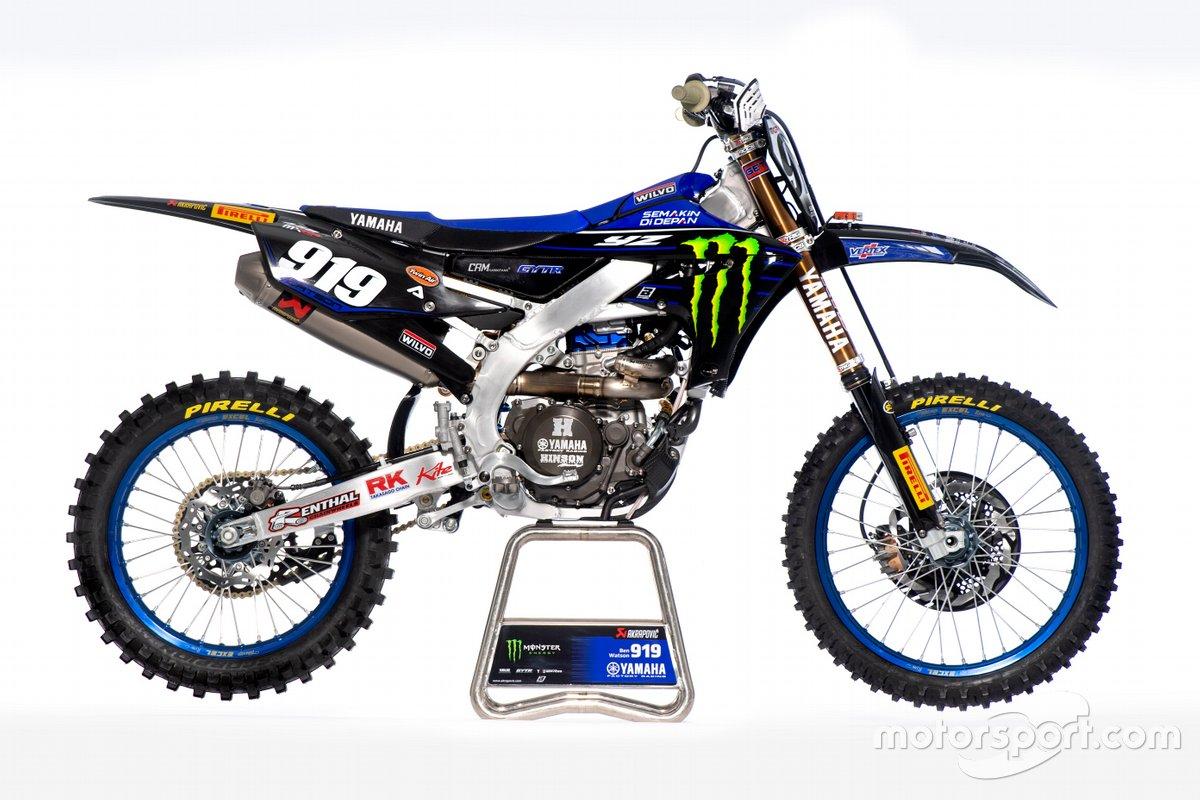 La moto de Ben Watson, Monster Energy Yamaha Factory Racing