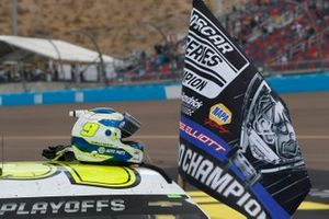 Chase Elliott, Hendrick Motorsports, Chevrolet Camaro NAPA Auto Parts, celebrates after winning the Nascar 2020 Cup Championship.