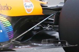 McLaren MCL35 floor detail