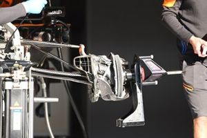 McLaren MCL35 front brake detail