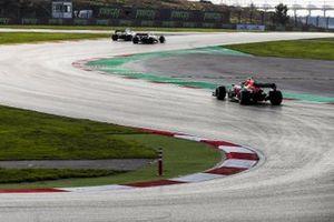 George Russell, Williams FW43, Antonio Giovinazzi, Alfa Romeo Racing C39, and Alex Albon, Red Bull Racing RB16