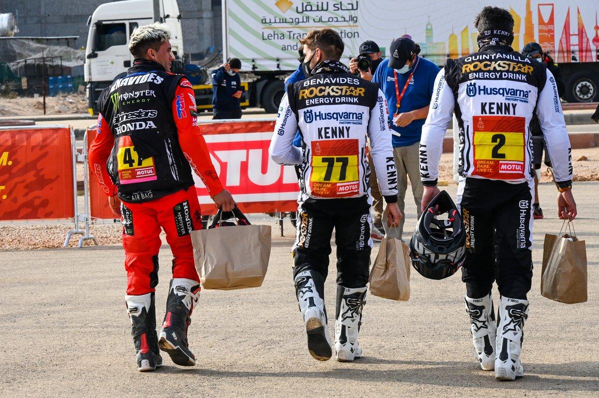 #47 Monster Energy Honda Team: Kevin Benavides, #77 Rockstar Energy Husqvarna Factory Racing: Luciano Benavides, #2 Rockstar Energy Husqvarna Factory Racing: Pablo Quintanilla