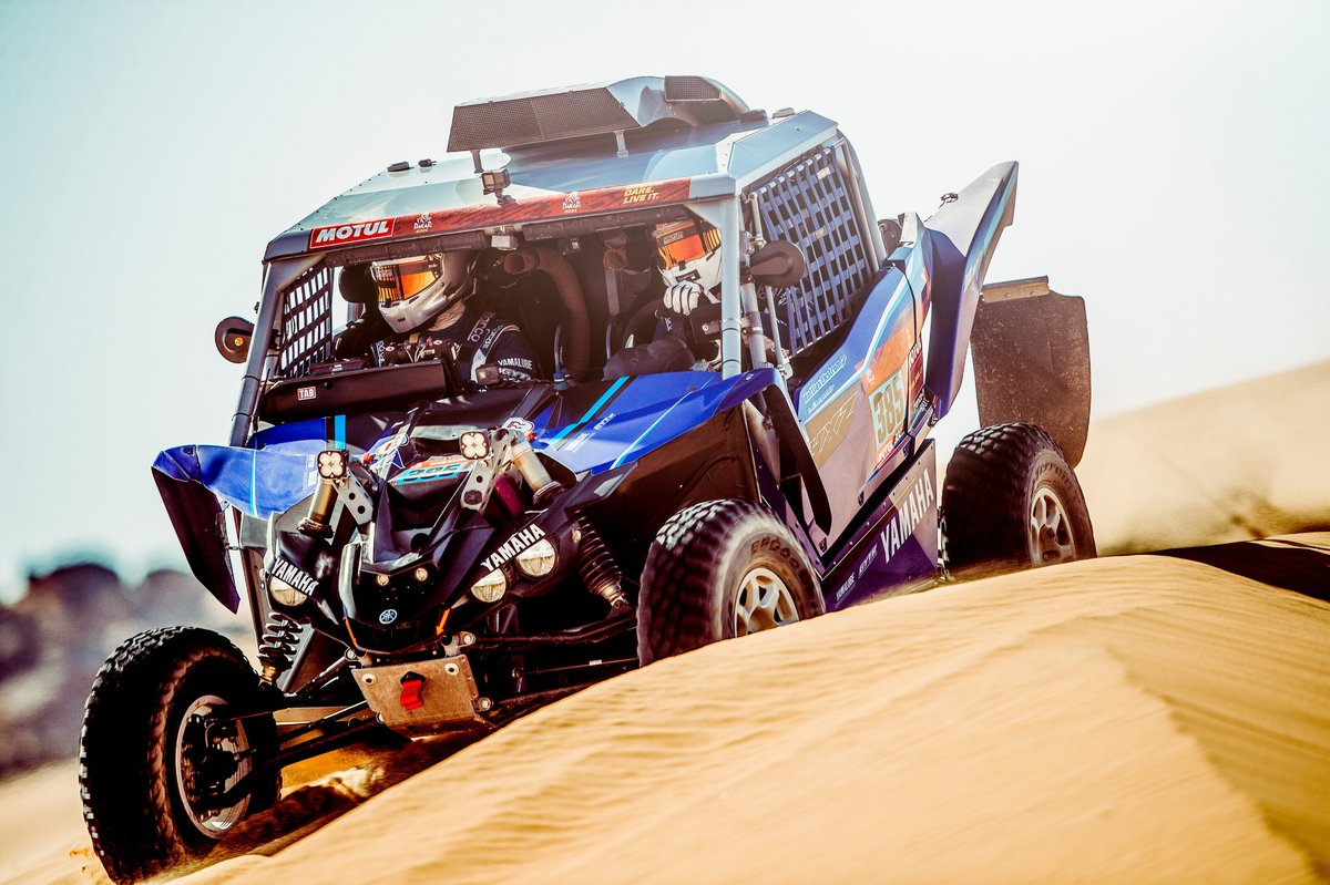 #385 Yamaha Powered by X-Raid Team: Mattias Ekström, Emil Bergkvist