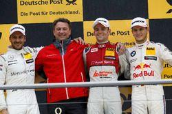 Podium: Race winner Jamie Green, Audi Sport Team Rosberg, Audi RS 5 DTM, second place Gary Paffett M