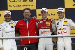 Podium: Race winner Jamie Green, Audi Sport Team Rosberg, Audi RS 5 DTM, second place Gary Paffett Mercedes-AMG Team HWA, Mercedes-AMG C63 DTM, third Marco Wittmann, BMW Team RMG, BMW M4 DTM