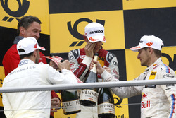 Podium: Gary Paffett Mercedes-AMG Team HWA, Mercedes-AMG C63 DTM, Jamie Green, Audi Sport Team Rosberg, Audi RS 5 DTM and Marco Wittmann, BMW Team RMG, BMW M4 DTM